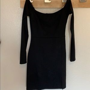 Nasty Gal Off The Shoulder Black Dress size S
